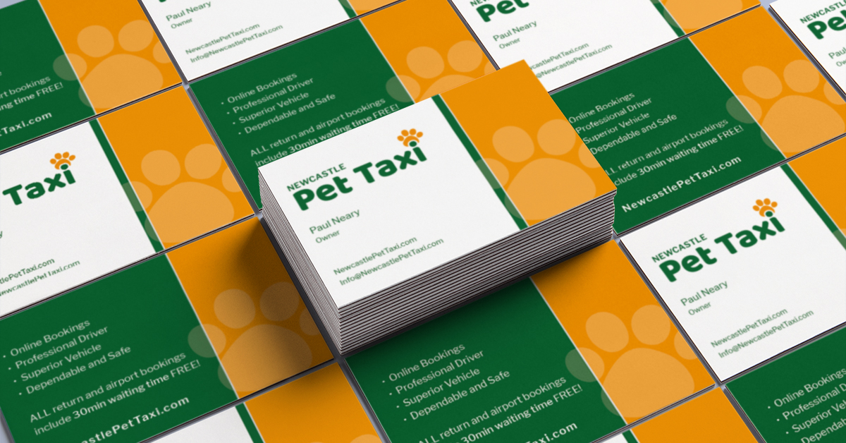 Business Cards by BrainVox: NewcastlePetTaxi.com